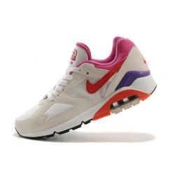Nike air max 180 бежевый с красным